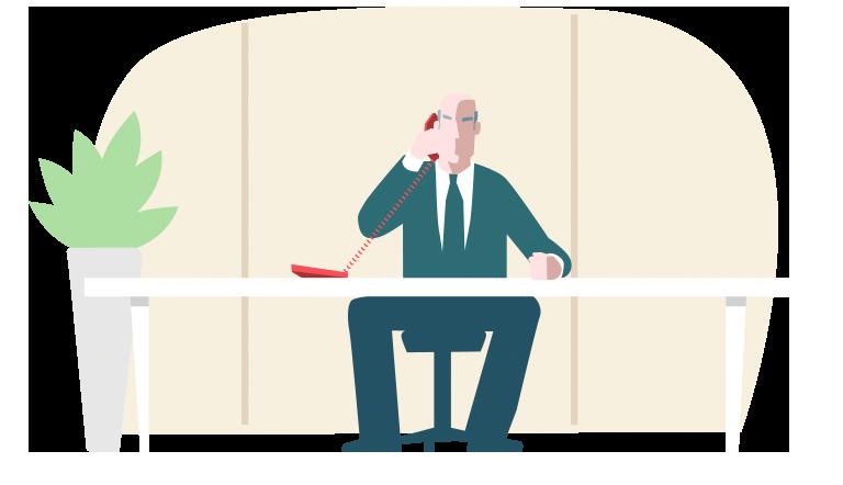 gezeichnetes Bild eines Unternehmers