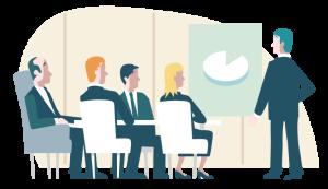 Stilisiertes Bild eines Meetings